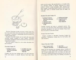 Vintage Chocolate Fondue Recipes
