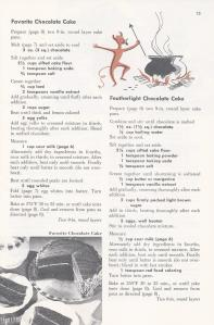 Vintage Chocolate Cake Recipes