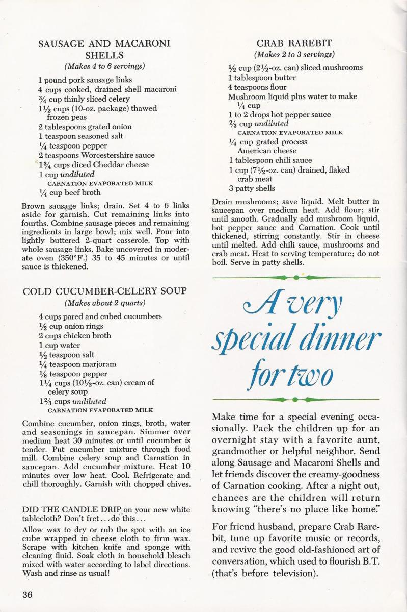 crab rarebit recipe 1966