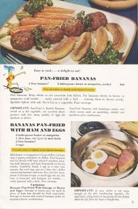 Vintage Recipe , Bananas, Antique Alter Ego