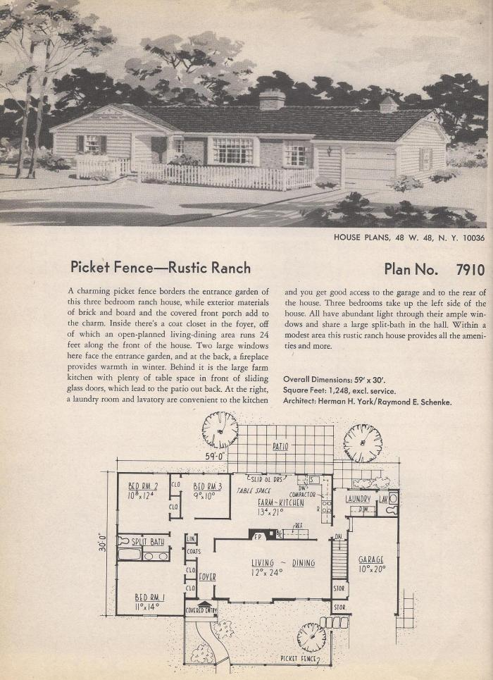 Vintage House plans  Rustic Ranch