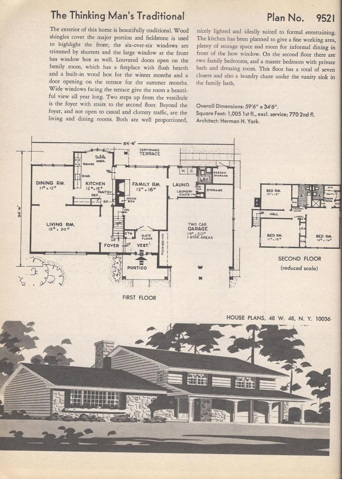 Vintage House plans  Traditional