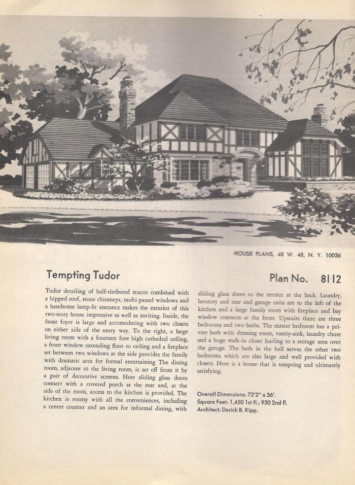 Vintage house plans a frame contemporary and tudor for Vintage tudor house plans
