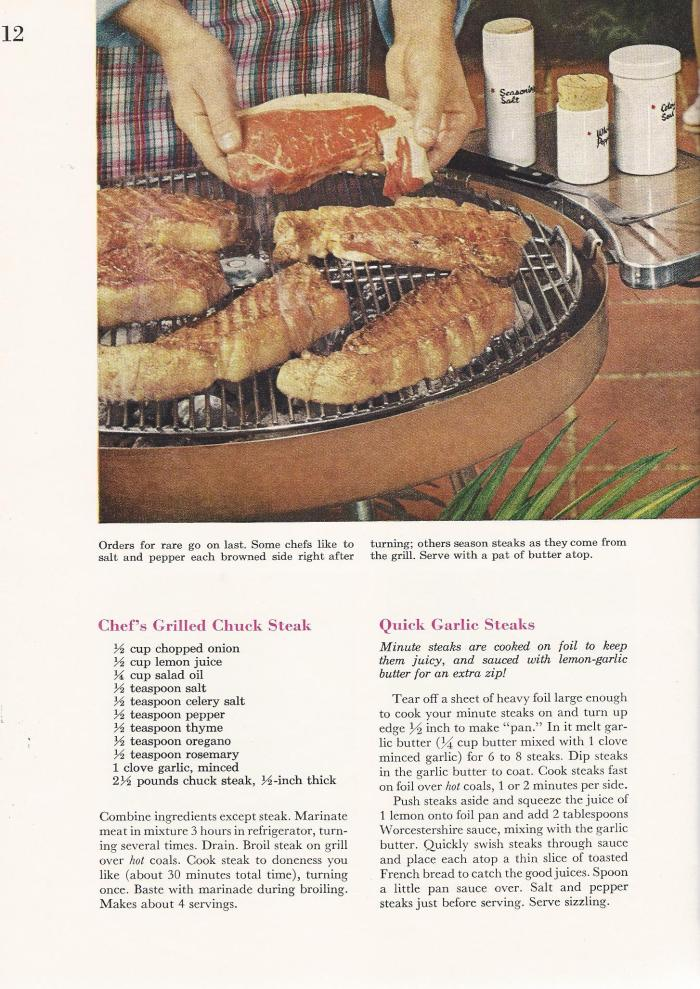 Vintage BBQ Barbecue Recipes Steaks