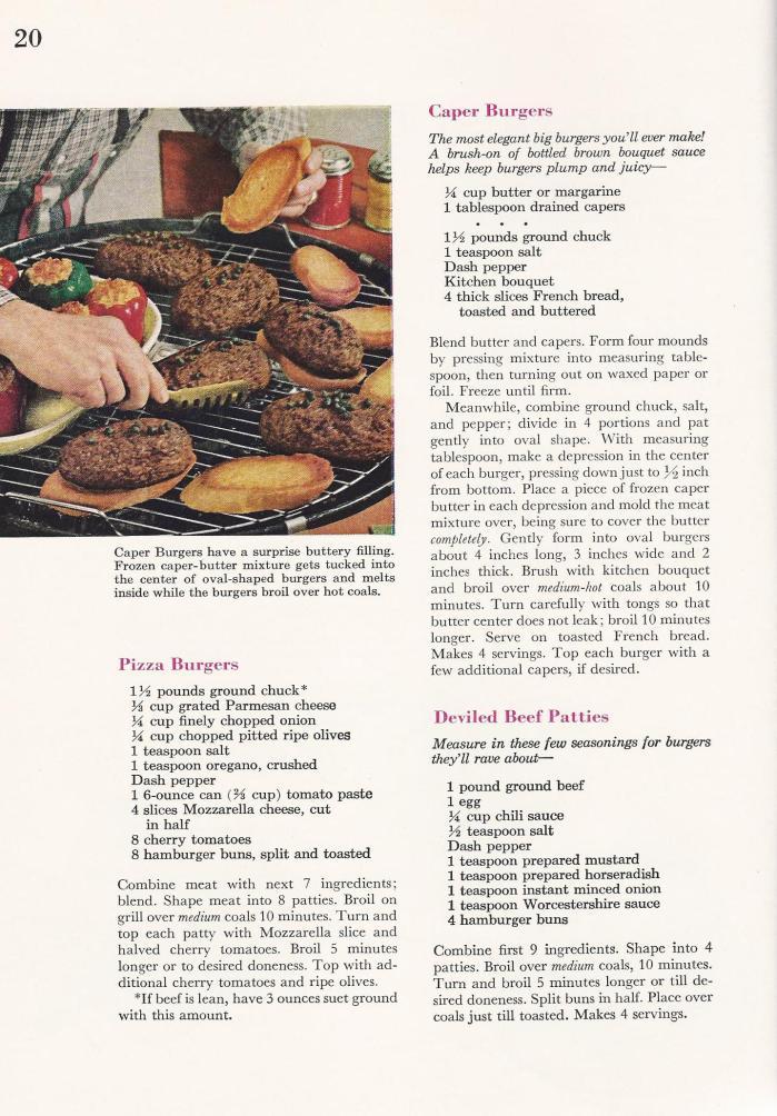 Vintage BBQ Barbecue Recipes Burgers