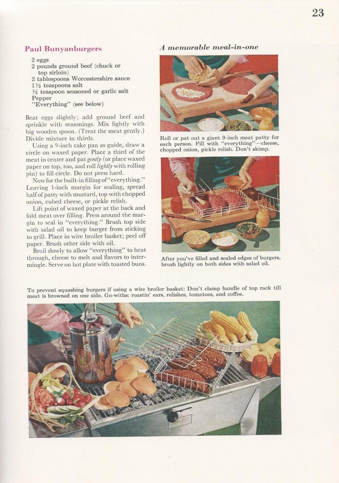Vintage BBQ Barbecue Recipes Burgers