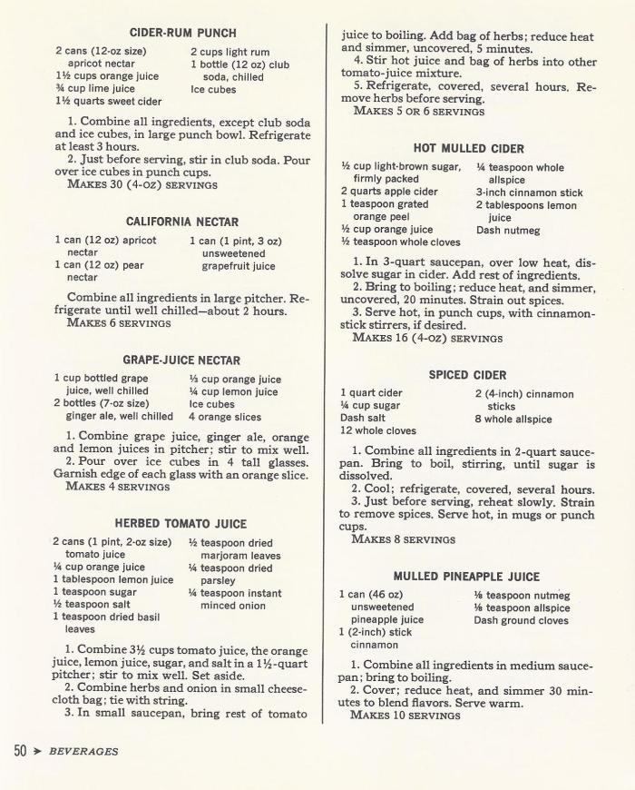 Vintage Cocktail Recipes 1965