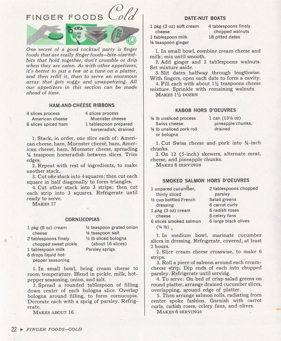 Vintage Cocktail Recipes 1965