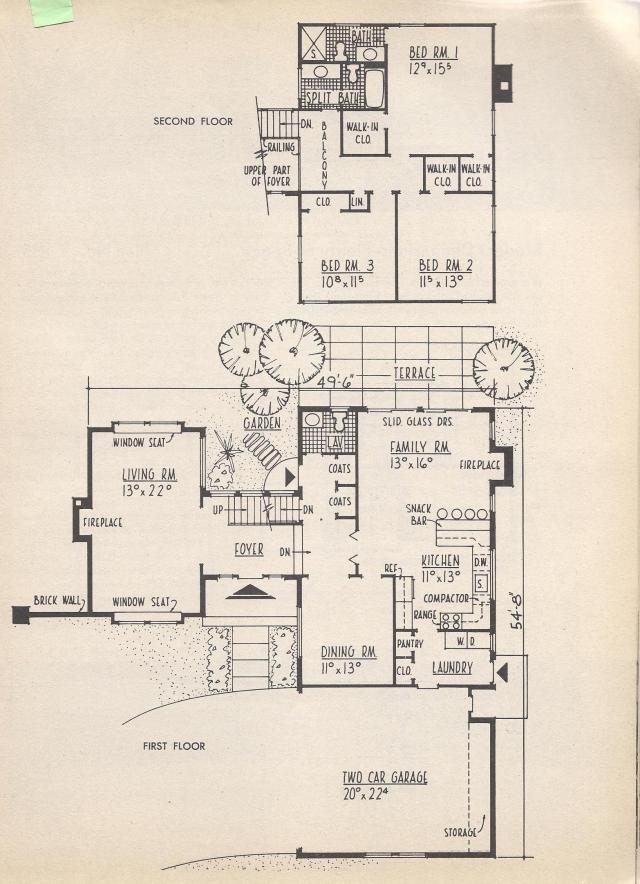Vintage House Plans Extended A Frame Practical