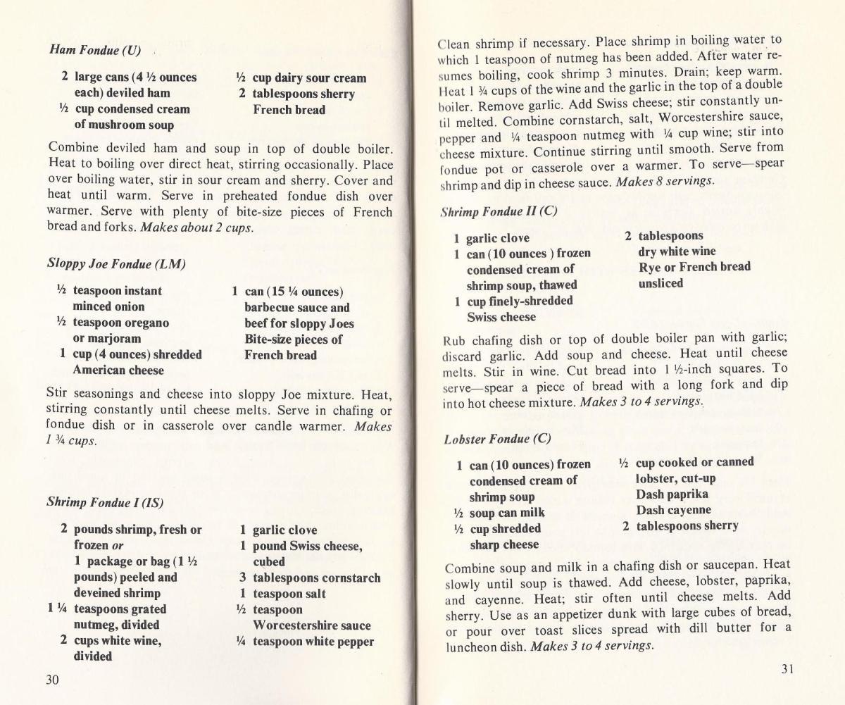 Fondue Recipes from the 1960s