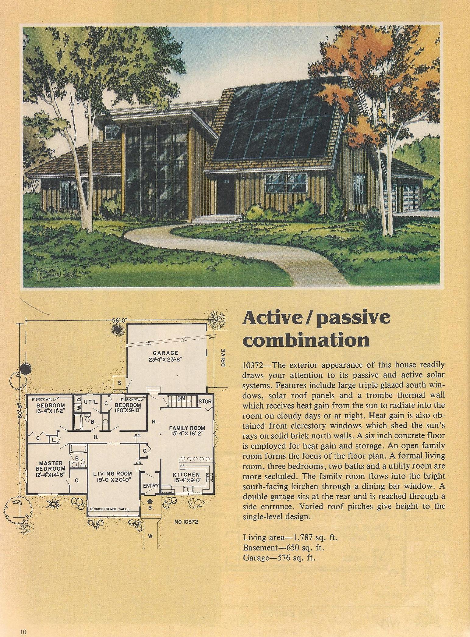 Vintage house plans solar house plans posted on june 25 for Active solar house plans
