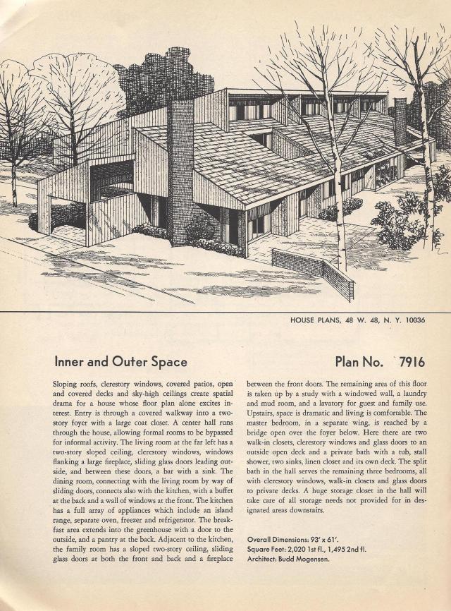 Vintage house plans huge mid century modern 4 bedroom - 4 bedroom split level floor plans ...