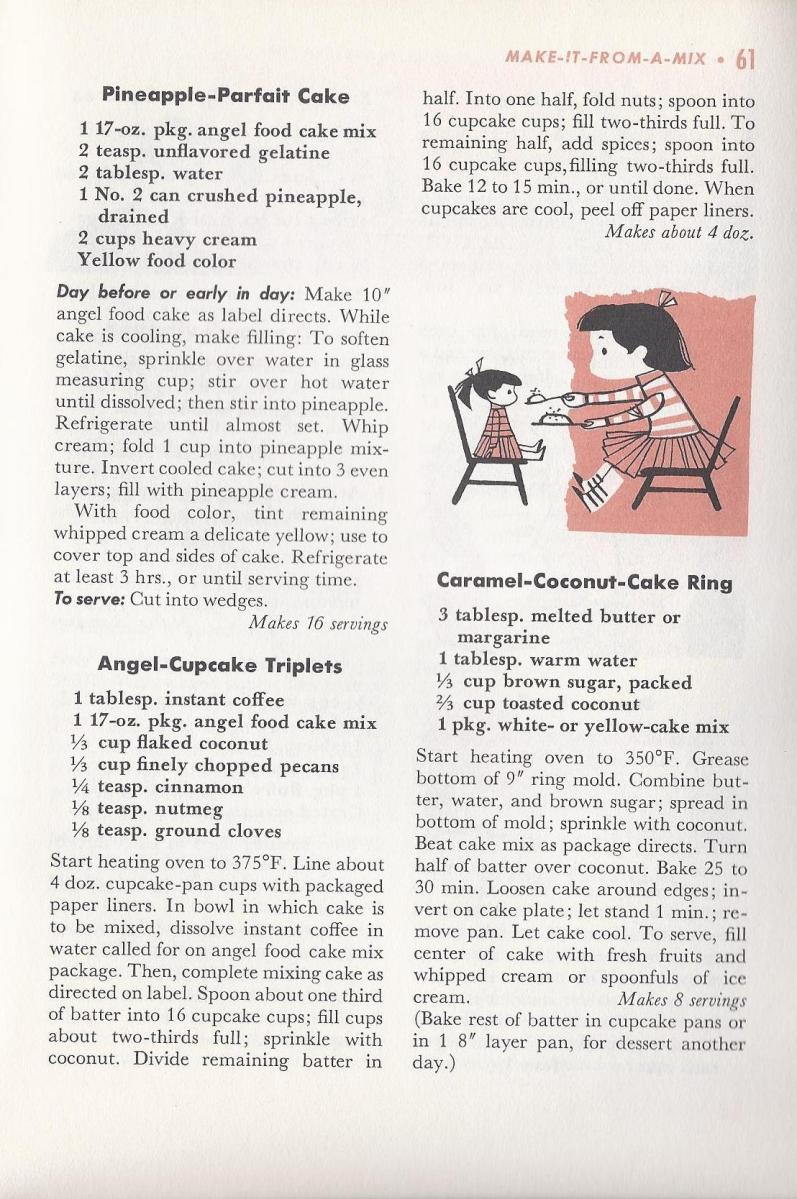Vintage Recipes 1958, Mid Century Recipes