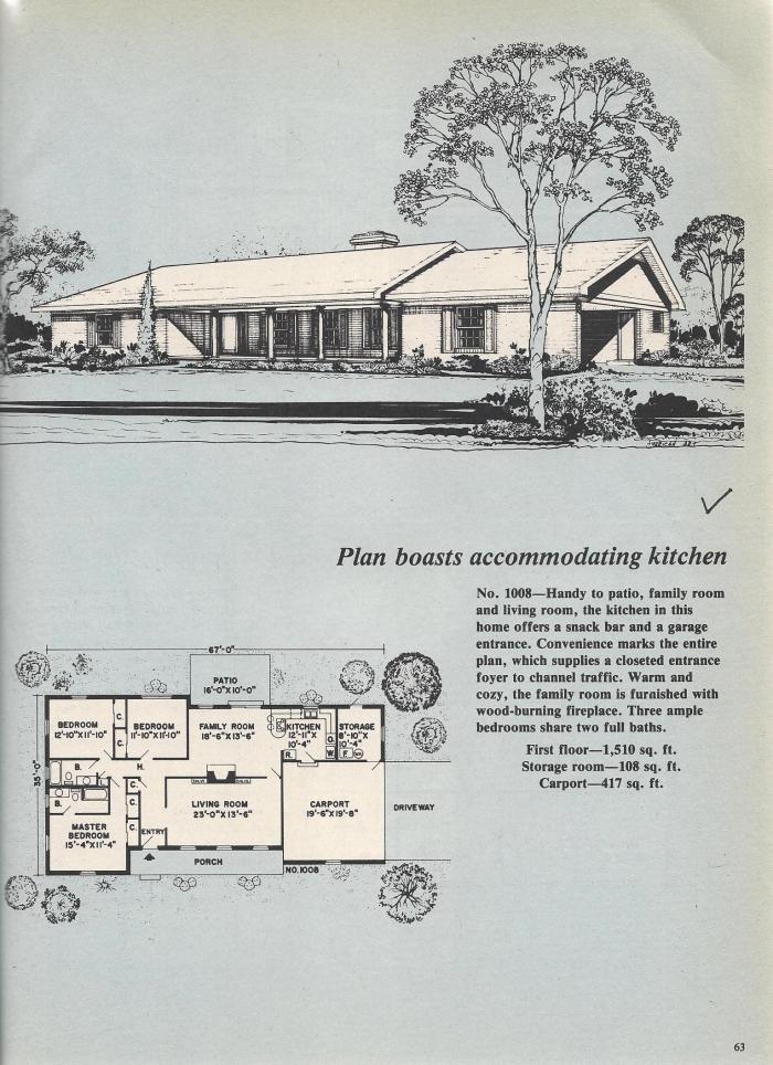 Vintage House Plans, Accomodating Kitchen