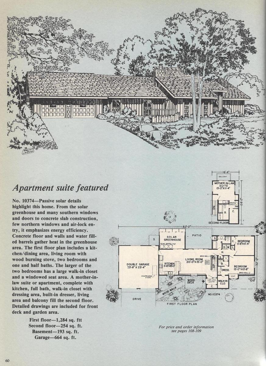 Vintage House Plans, Apartment Suite