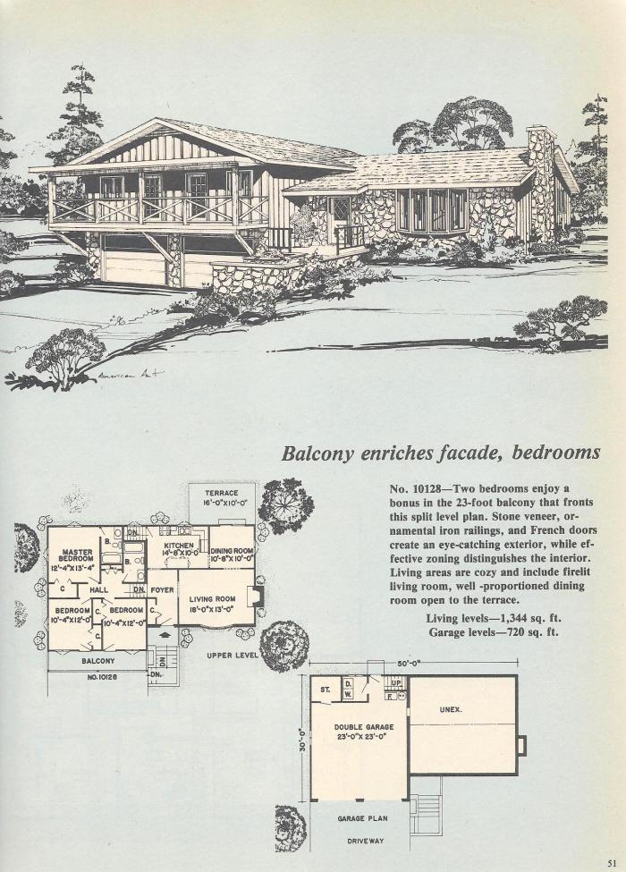 Vintage House Plans, Balcony