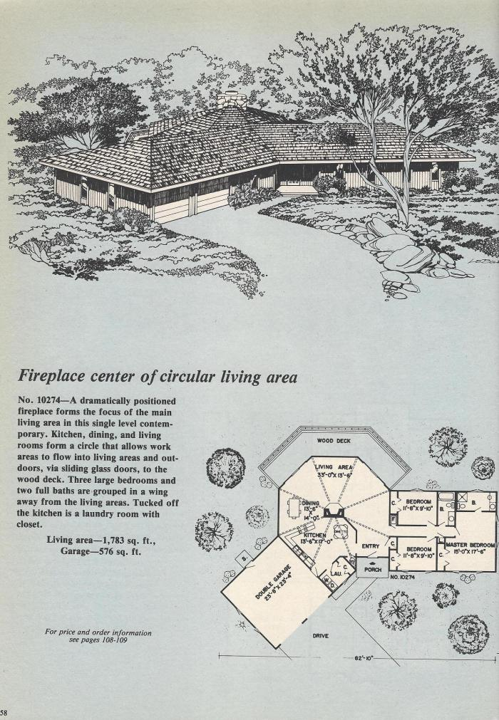 Vintage House Plans, Circular Home