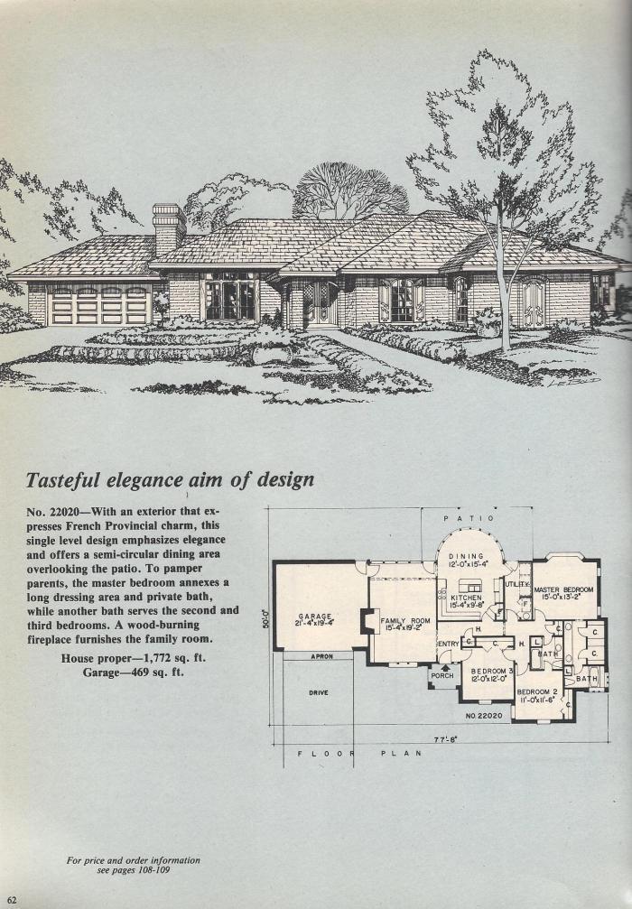Vintage House Plans, Elegant