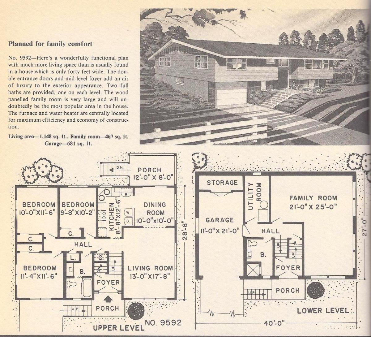 Vintage House Plans, Family Comfort