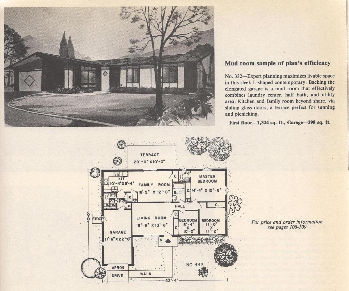 Vintage House Plans, Mud Room