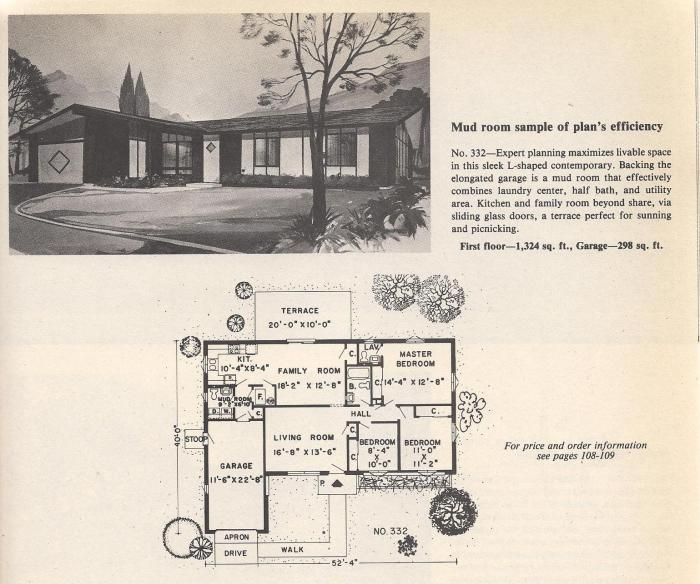 Vintage House Plans, Mud Room