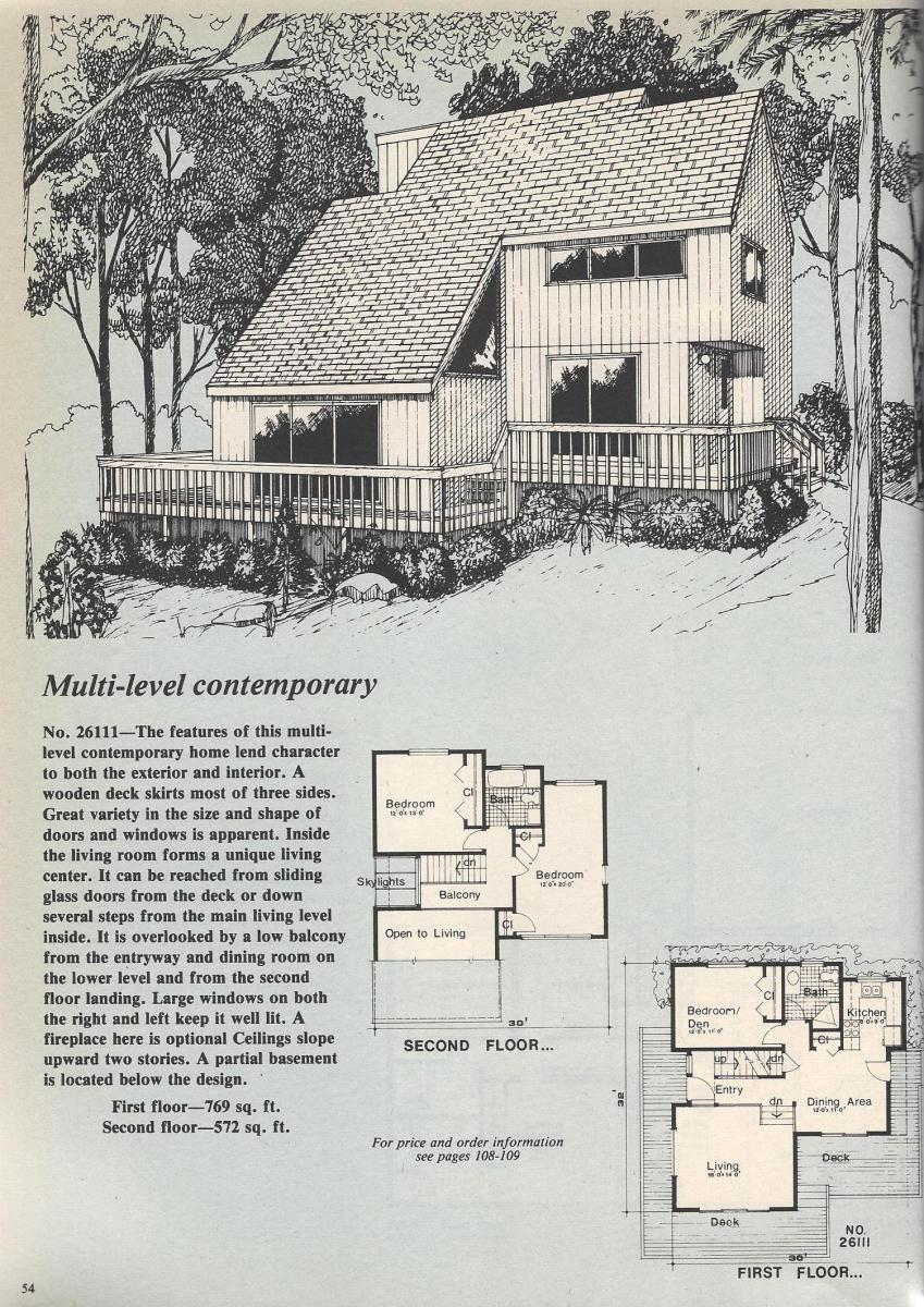 Vintage House Plans, Multi-Level