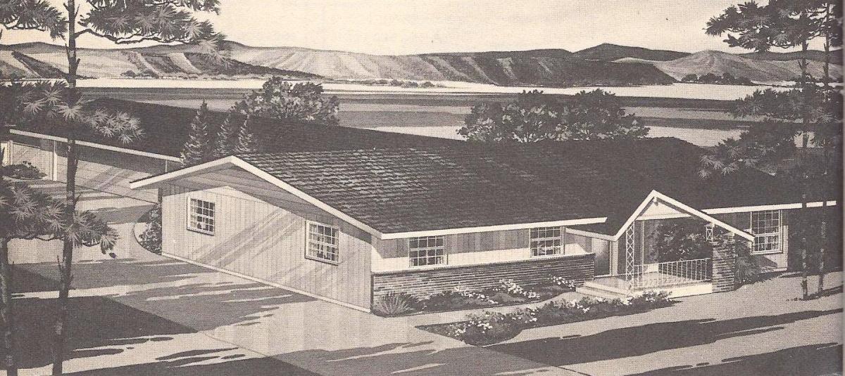 Vintage House Plans, Narrow Lot
