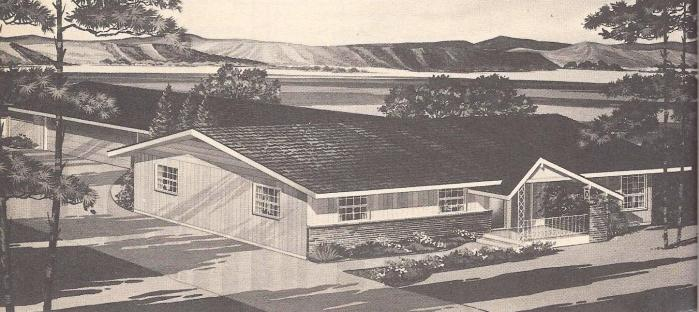 Vintage House Plans, Narrow Lot