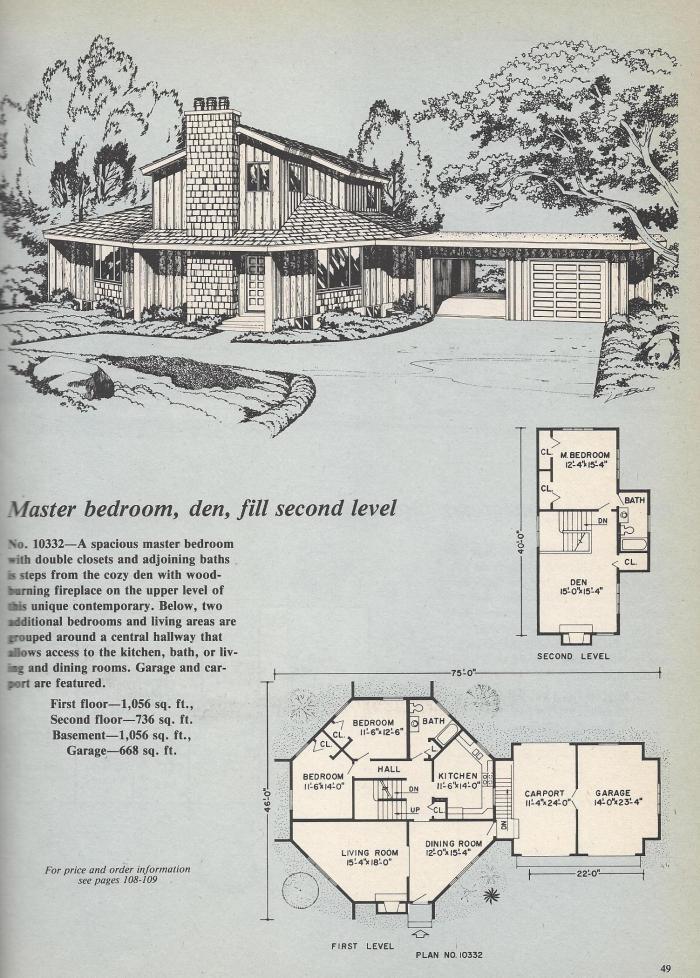Vintage House Plans, Octagon