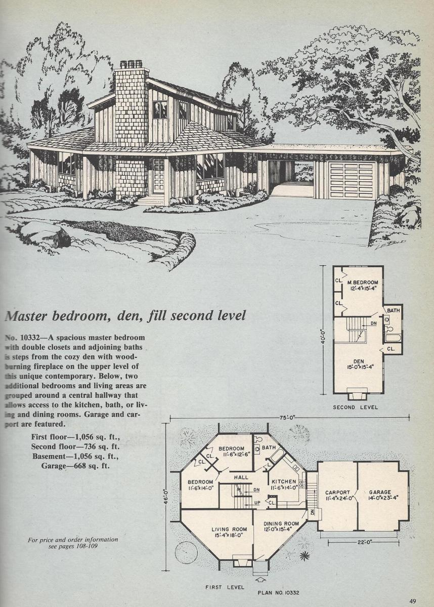 Vintage House Plans, Octagon