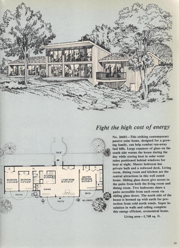 Vintage House Plans, Passive Solar