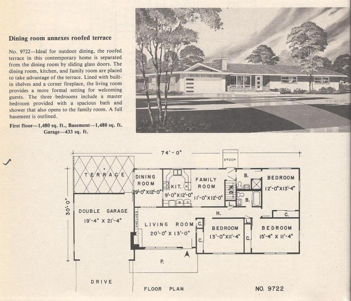 Vintage House Plans, Roofed Terrace