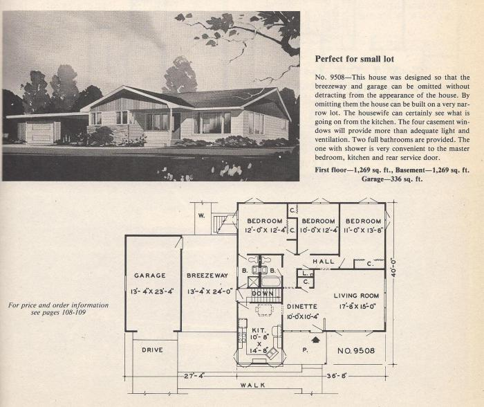 Vintage House Plans, Small Lot