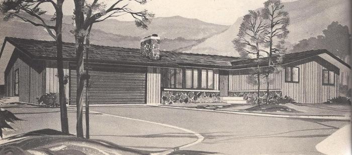 Vintage House Plans, Stone Chimney