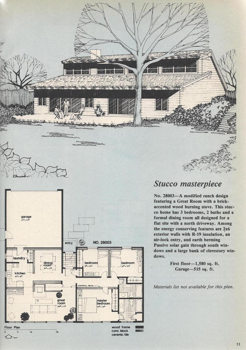 Vintage House Plans, Stucco