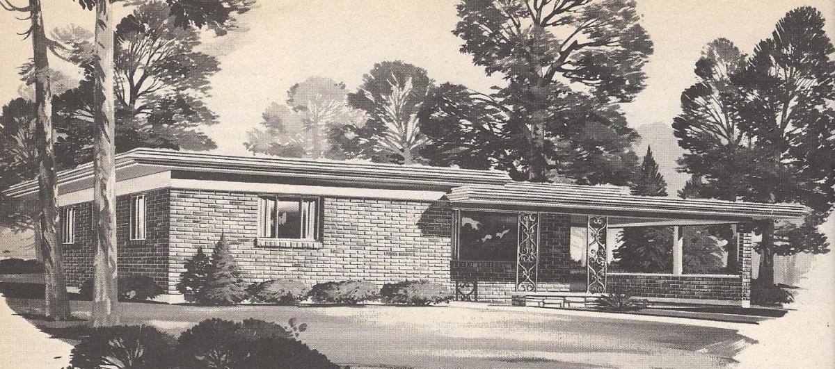 Vintage House Plans, Western Flat-Top