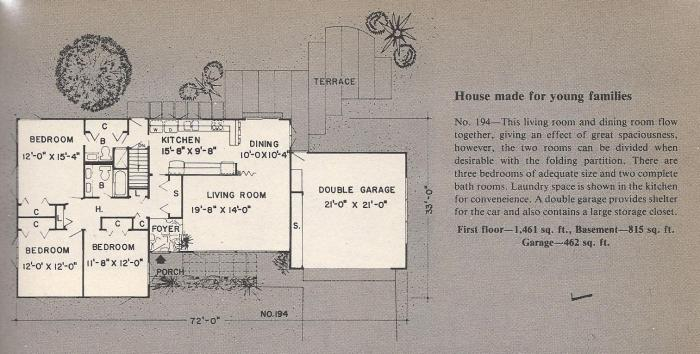 Vintage House Plans, Young Families