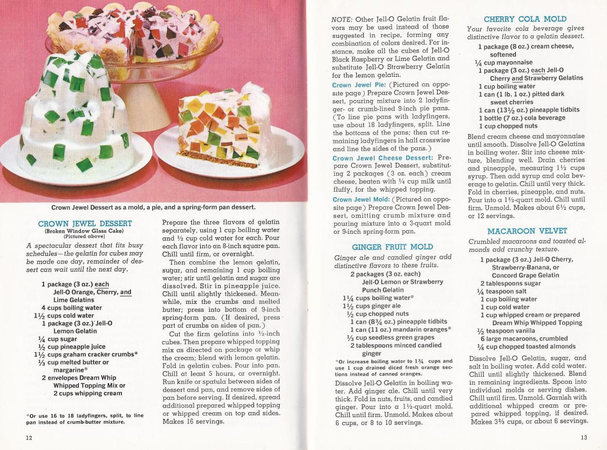 80 Jell-O Desserts From the 1960s