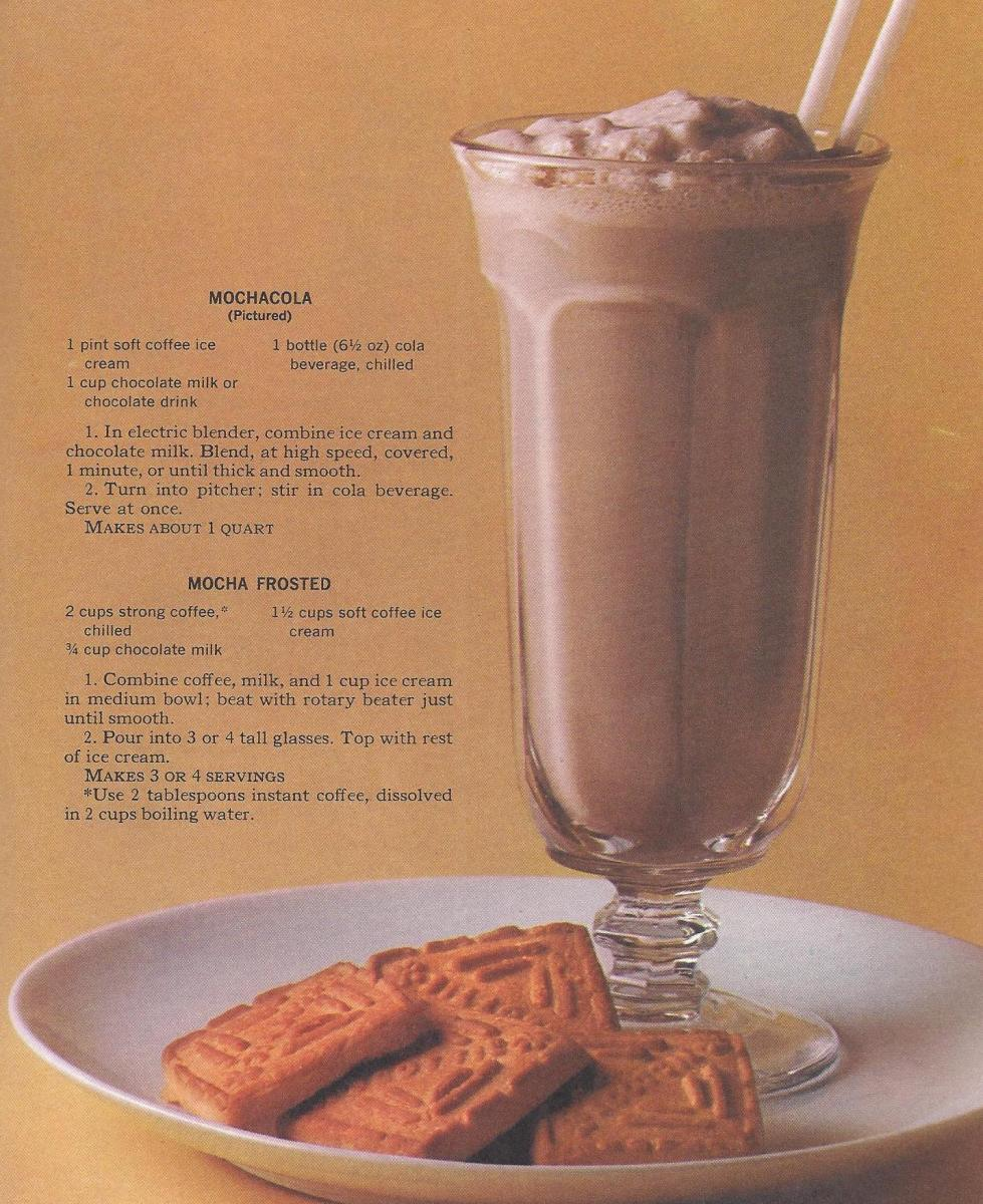 Vintage Recipes, 1965, Mocha