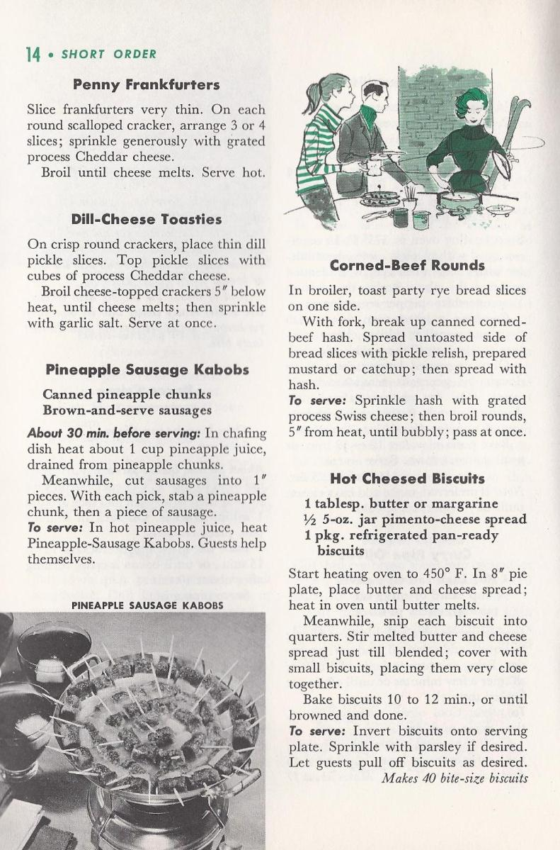 Quick Appetizers from 1958