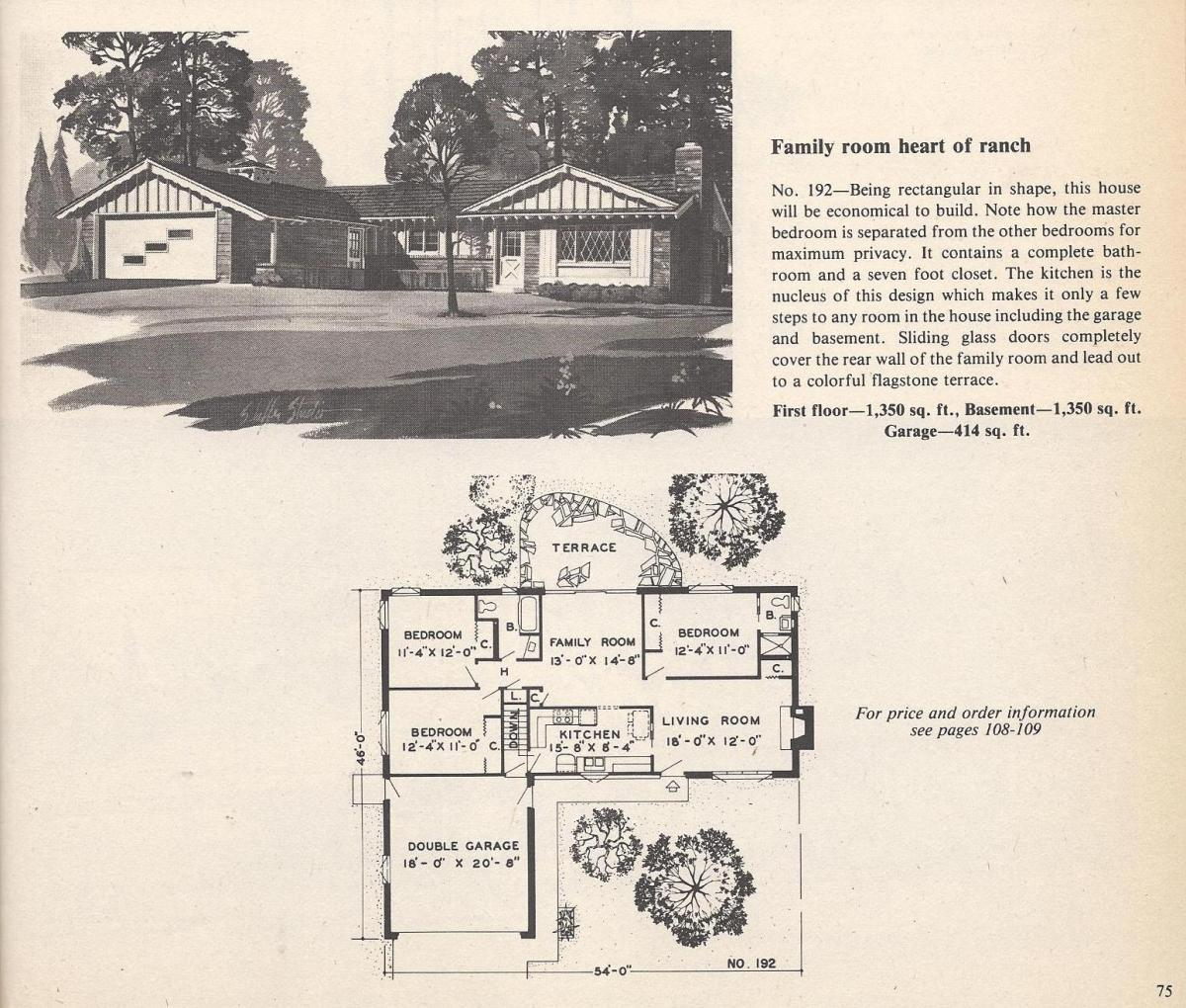 Vintage House Plans , Family Room