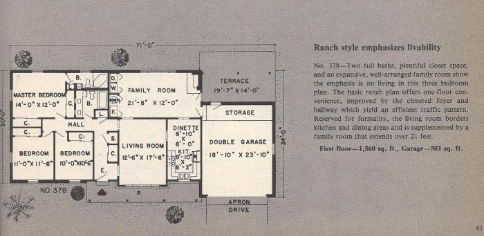 Vintage House Plans , Ranch