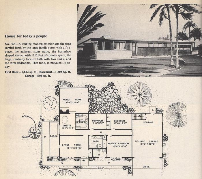 Vintage House Plans , Mid Century Modern