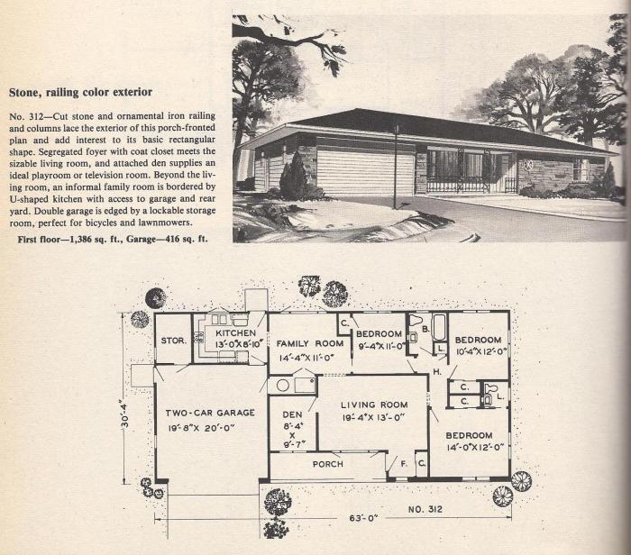 Vintage House Plans , Stone Railing