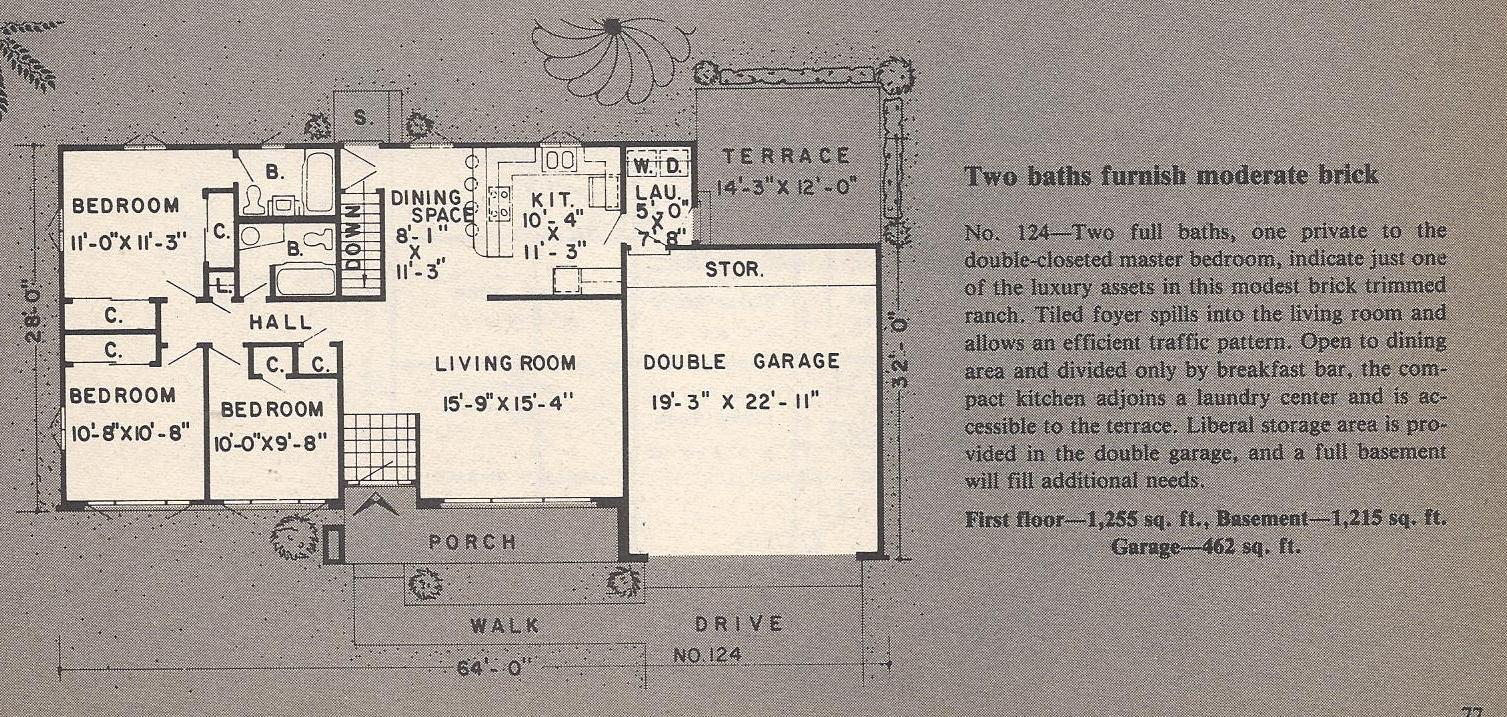 Vintage House Plans Traditional MidSized Ranch and Modern
