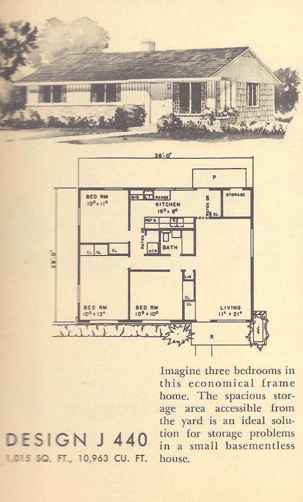 Vintage Home Plans, Mid Century Homes