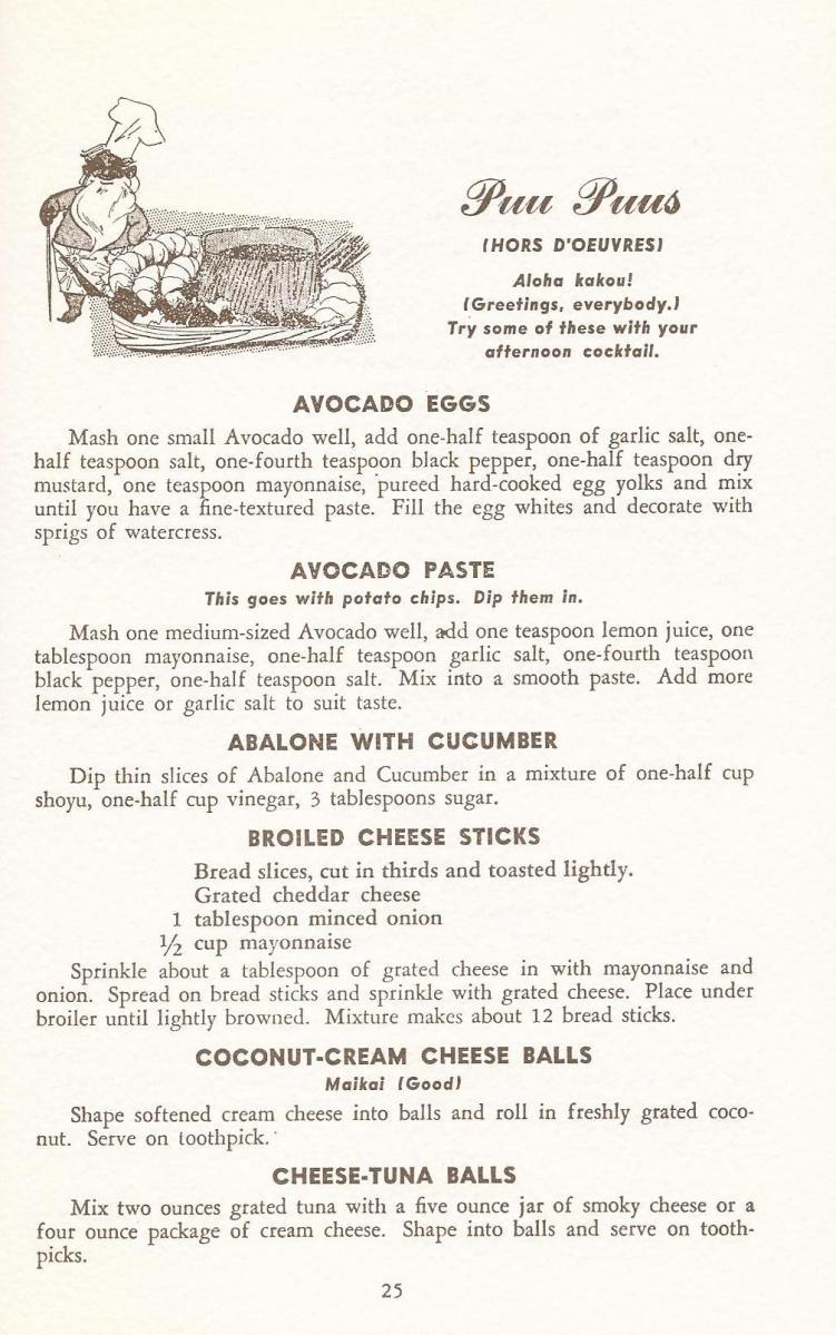 Mid Century Tiki , Vintage Hawiian Recipes