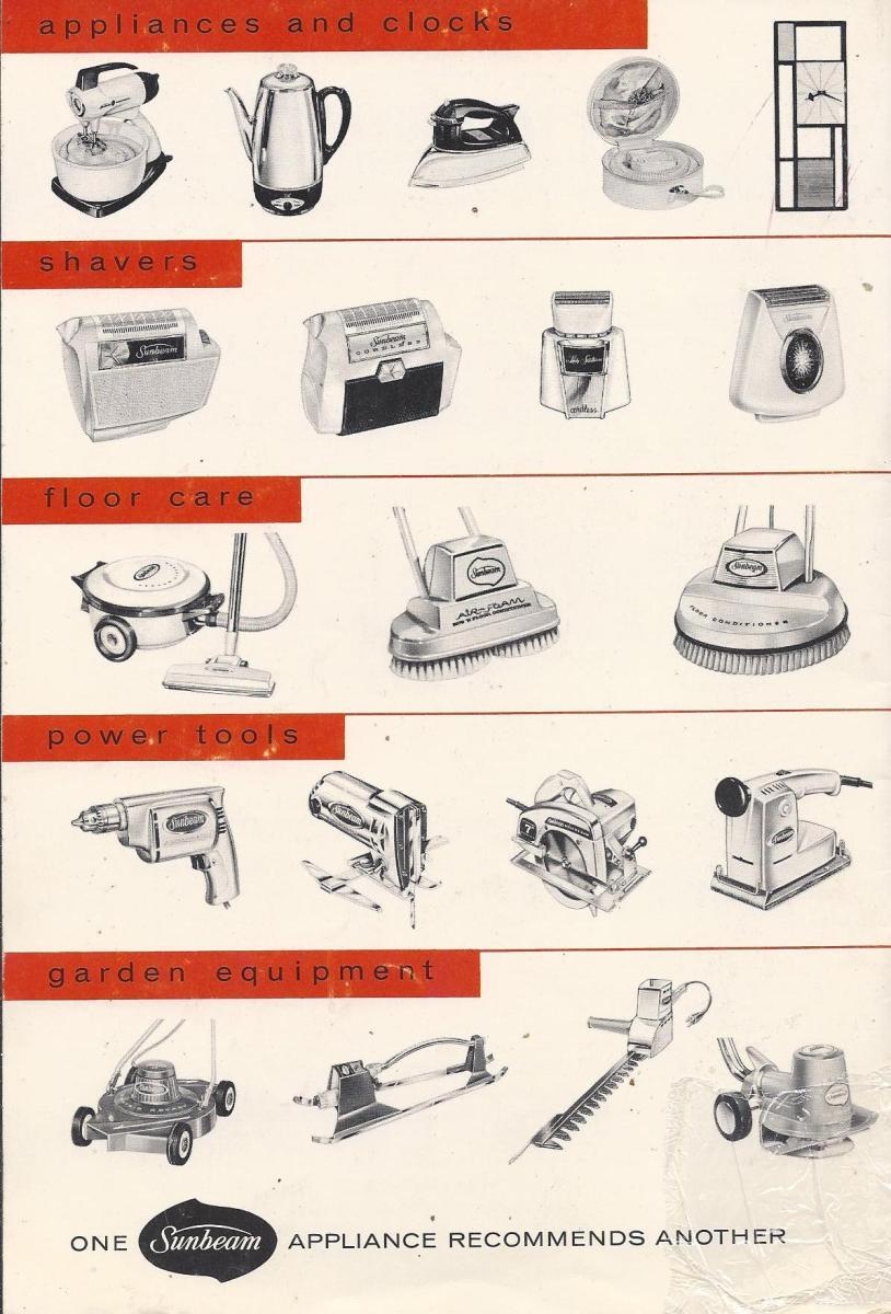 Sunbeam Mixmaster 1957, vintage recipes