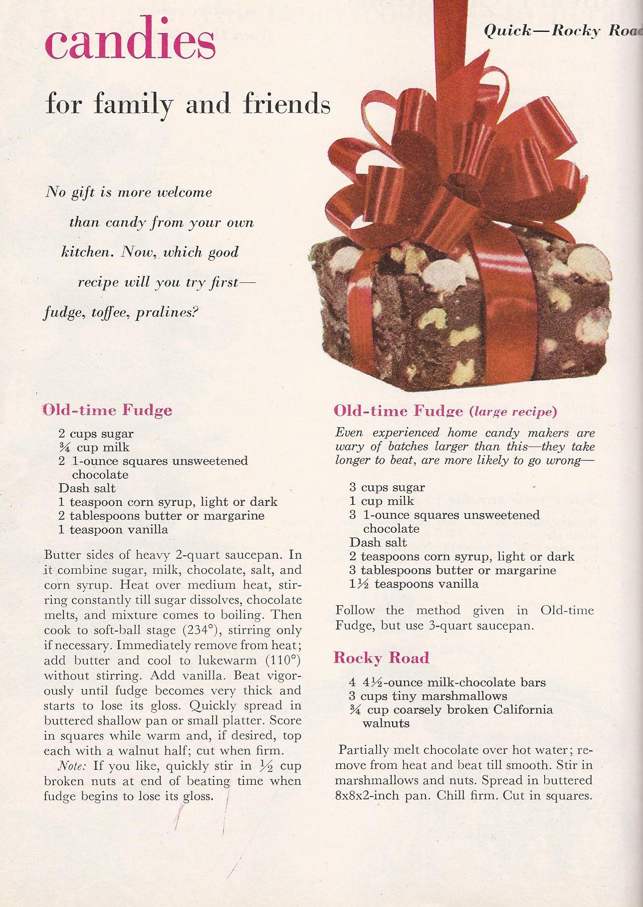 Vintage Christmas Candy Recipes 1