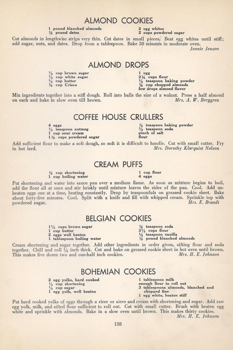 Vintage Cookies Recipes From 1940